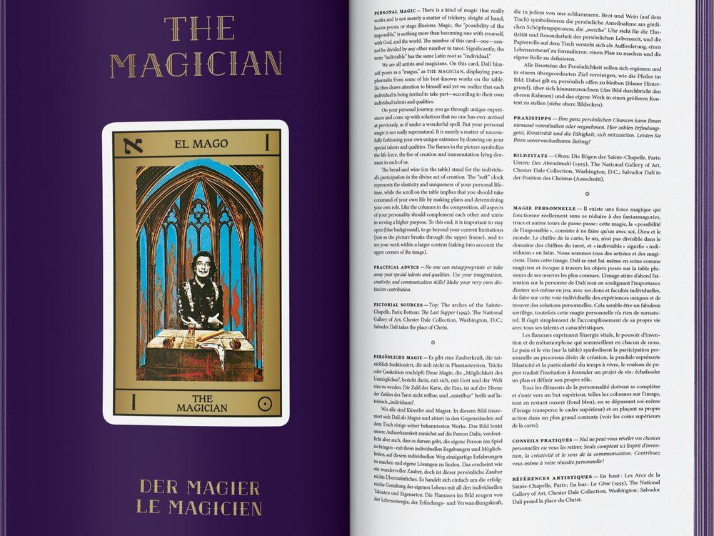 Salvador Dali tarot card magician