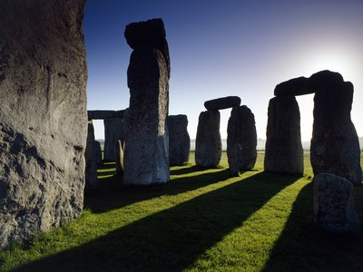 The huge sarsen stones that make up Stonehenge's outer ring weigh around 20 tons each and stand roughly 23 feet tall.