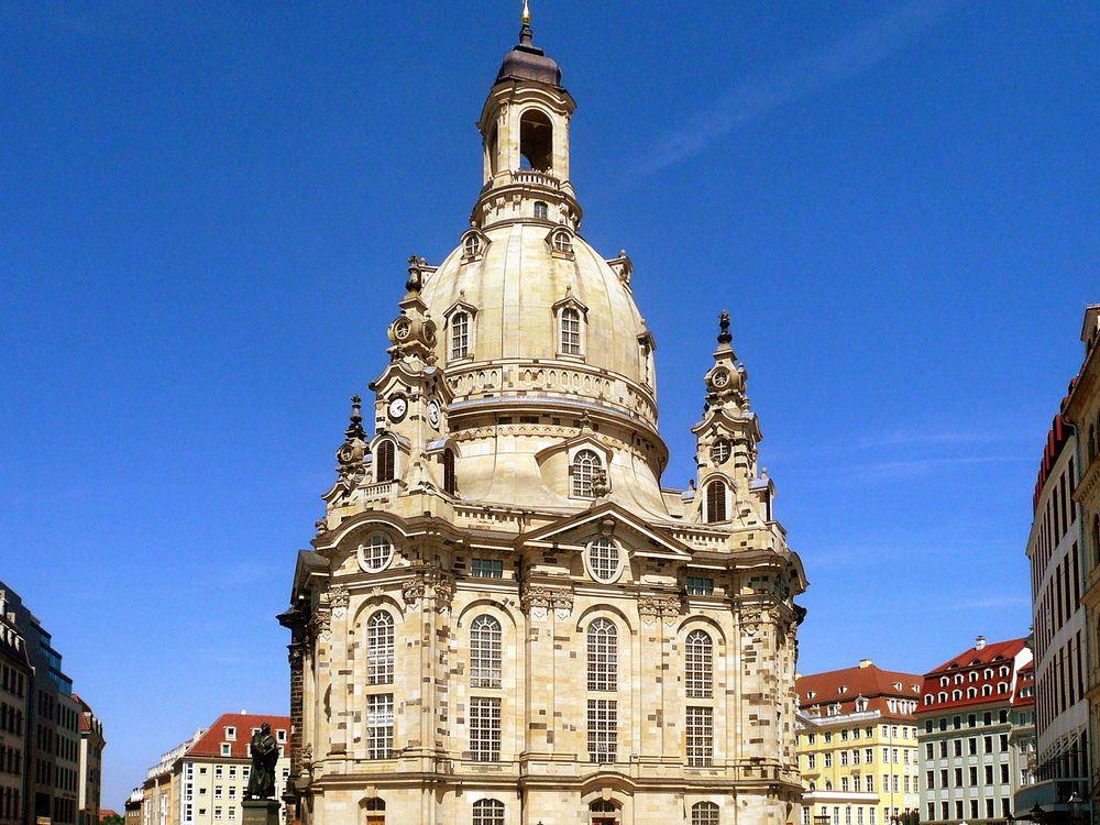 The Frauenkirche of Dresden at Neumarkt in 2009
