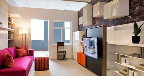 Micro-unit LaunchPad, Clei s.r.l/Resource Furniture; architecture by Amie Gross Architects