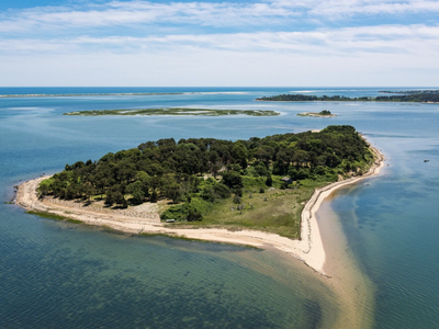Sipson Island in Cape Cod, Massachusetts, opened to the public on July 25.