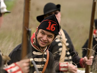 Canadian reenactors recreate a battle from the War of 1812 in London, Ontario.