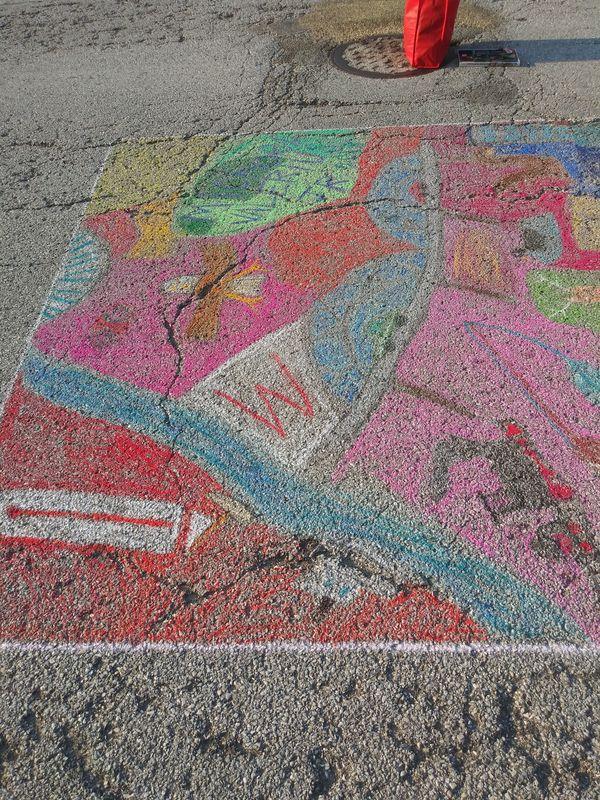 Street chalk art thumbnail