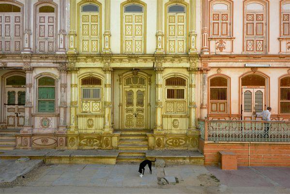 Facades of old houses in Sidhpur, Gujarat, India. thumbnail