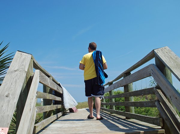A Young Man on his way to the Beach. thumbnail