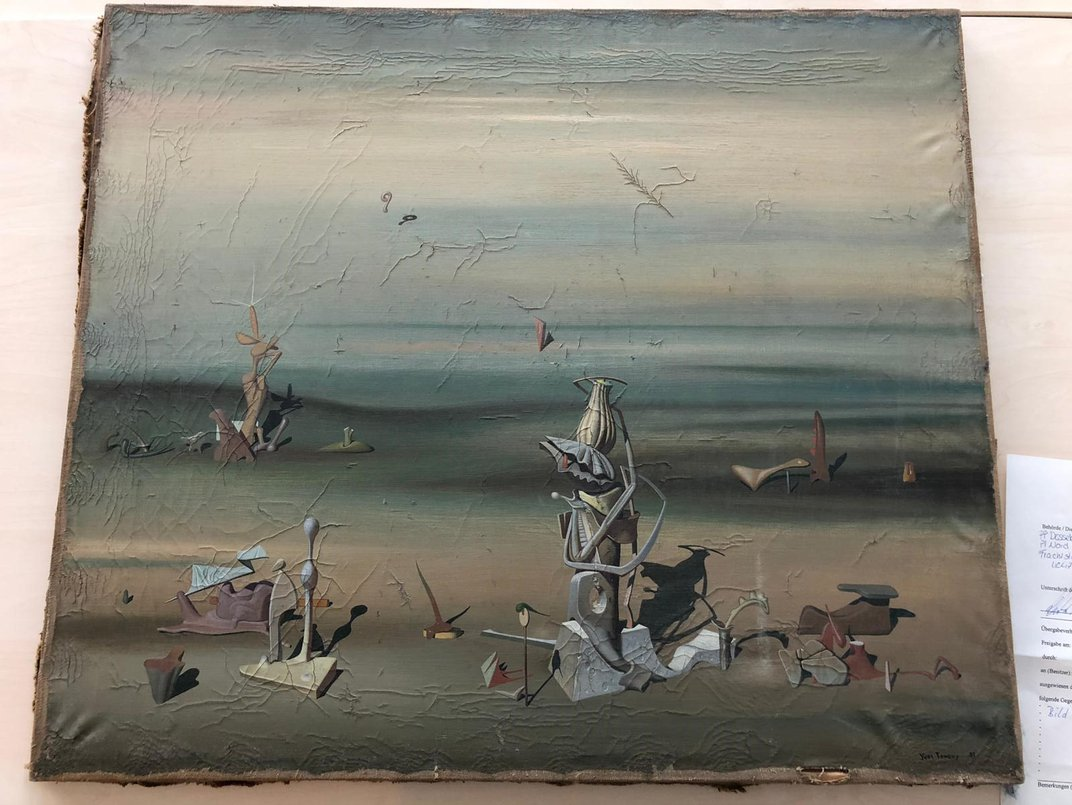 $340,000 Surrealist Painting Found in Recycling Bin at German Airport