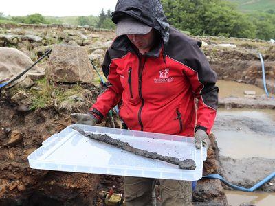 One of the Roman cavalry swords recovered from Vindolanda