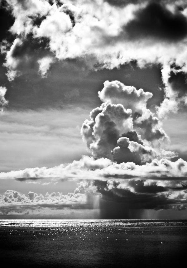 A rainstorm over the Philippine Sea, off the coast of Saipan, CNMI thumbnail