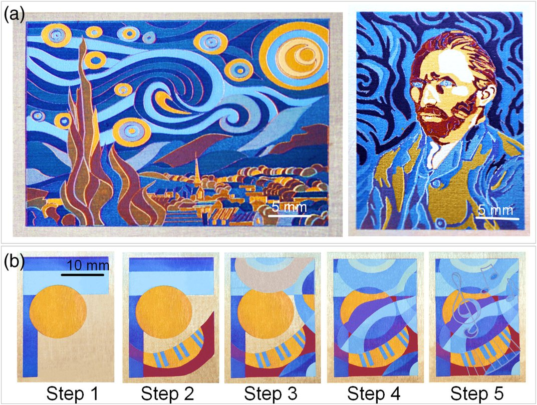 Scientists Use Laser Paintbrush to Craft Mini Version of van Gogh's 'Starry Night'