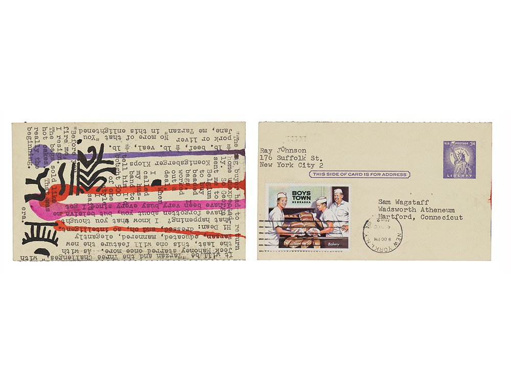 Ray Johnson mail art to Samuel J. Wagstaff, 1962. Samuel Wagstaff papers, 1932-1985. Archives of American Art, Smithsonian Institution.