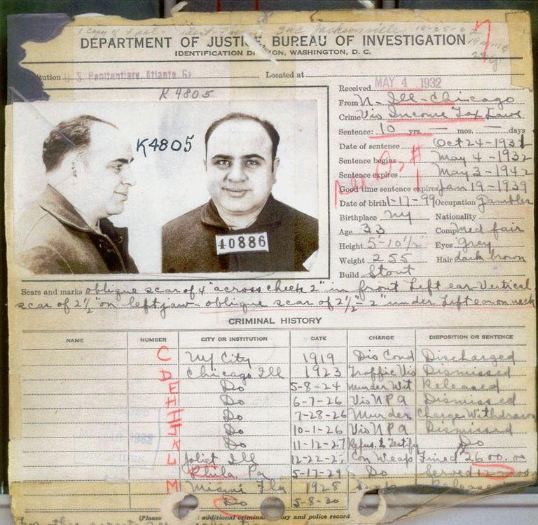 Capone Criminal Record