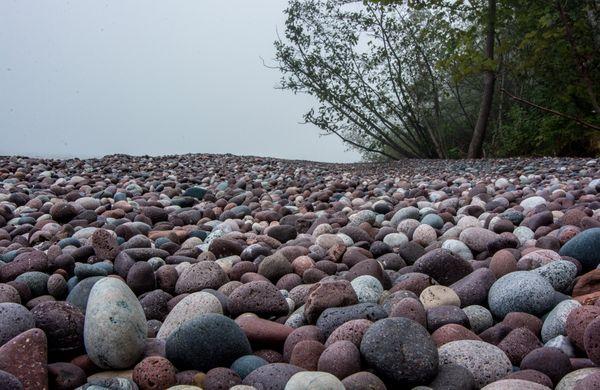 Cobblestones on Little Girls Point, Lake Superior thumbnail