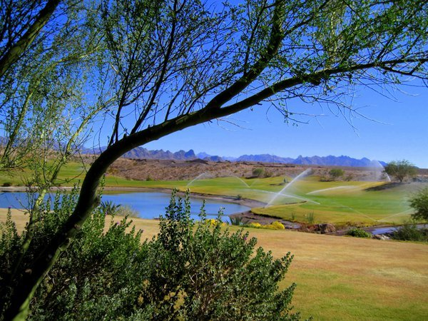 Overlooking the Laughlin Ranch Golf Course and the Arizona Mountains thumbnail