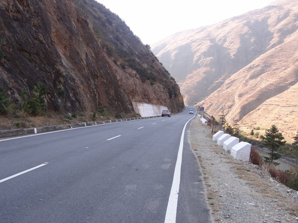 Double lane road between Capital City of Bhutan and Paro International Airport thumbnail