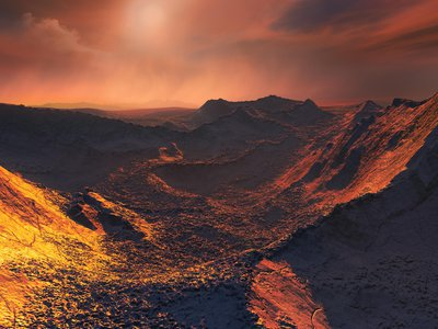 An artist's impression of the newly discovered planet's surface.