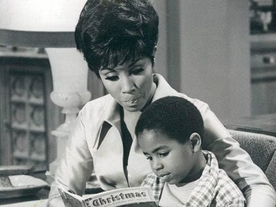 """TV's """"Julia"""" premiered on September 17, 1968 and the show was an instant hit, winning actress Diahann Carroll (above with Marc Copage as Corey Baker) the Golden Globe Award for best actress in a comedy in its first season."""