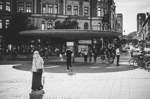 Woman on the streets of Stockholm thumbnail