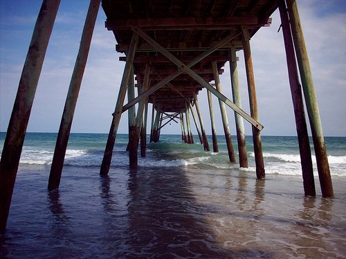 An old pier at Wrightsville Beach. thumbnail