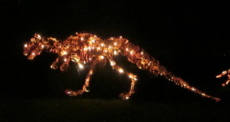 Pumpkin Tyrannosaurus at the Great Jack O' Lantern Blaze