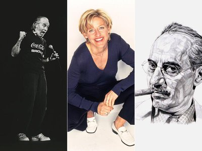 Choose among these three cultural icons for the comedian who will be featured at the National Portrait Gallery.
