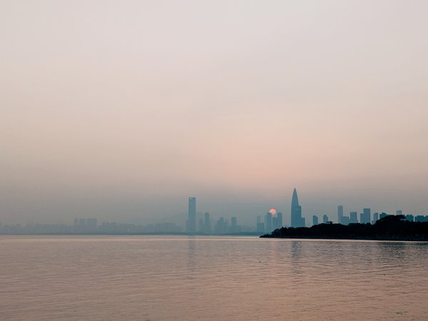 Sunset while walking in Shenzhen Bay Park area thumbnail