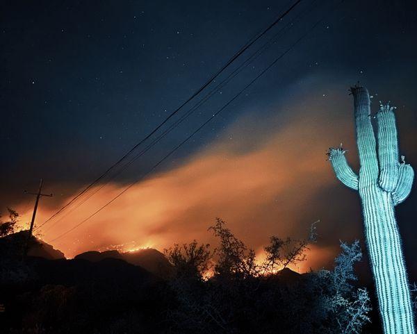 Smoke billowed along foothills' streets thumbnail