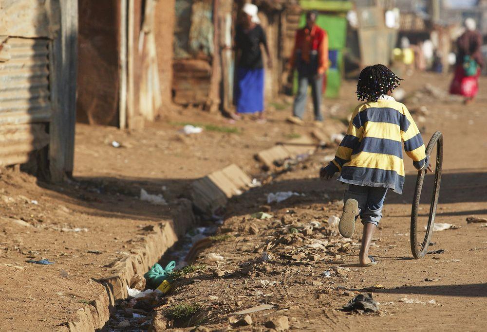 A slum in Nairobi