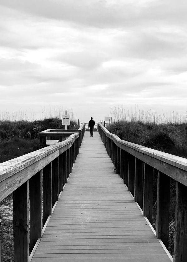 A bridge leading down to the beach in South Carolina. thumbnail