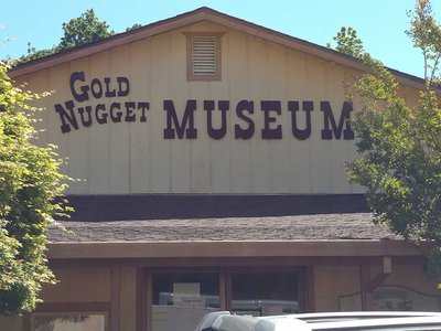The museum featured replicas of a pioneer school, mining cabin, blacksmith's shop and more