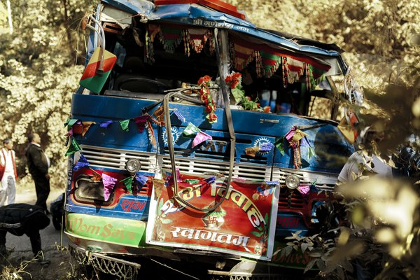 A crashed bus in Nepal thumbnail