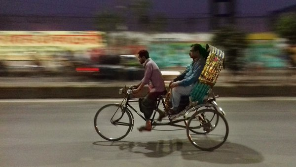 A rickshaw at night thumbnail