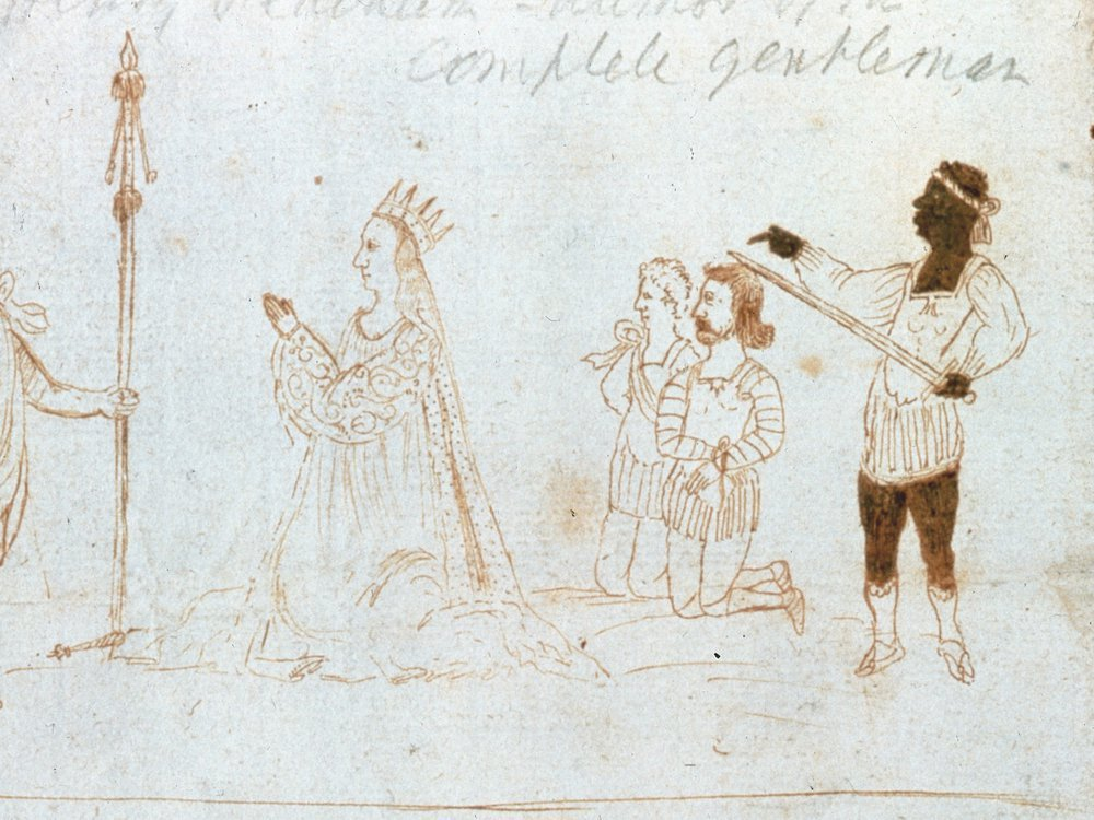 Drawing of performance of Titus Andronicus