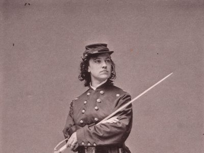 Actress Pauline Cushman (1833-1893) was a Union spy and became a major celebrity.