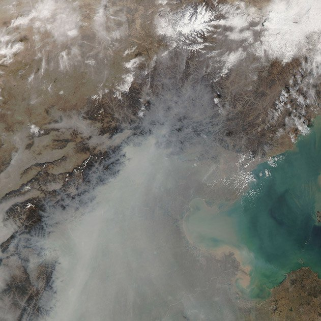 Haze Blankets Eastern China
