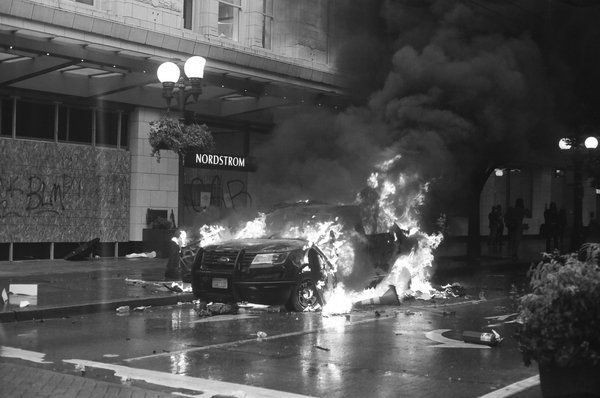 SPD Squad Car on Fire thumbnail