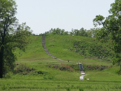 The mounds still rise as much as 66 feet above ground, more than 3,000 years after they were constructed.