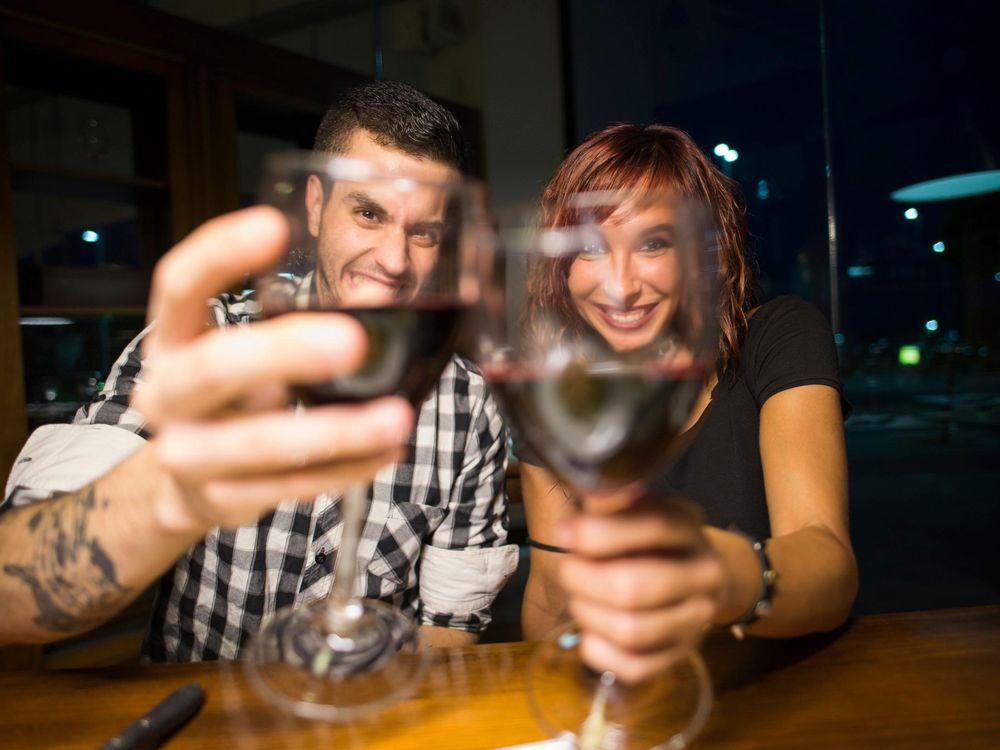 Millenials Drinking Wine