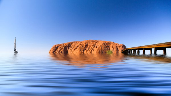 Flood at Uluru thumbnail