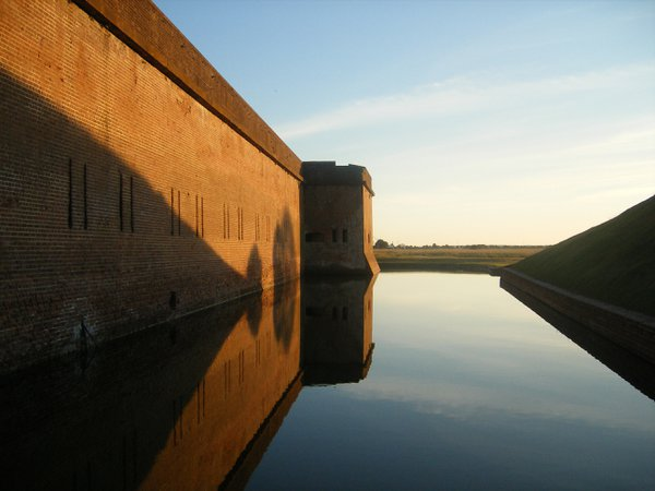 Reflection in moat surrounding Fort Pulaski, Georgia. thumbnail