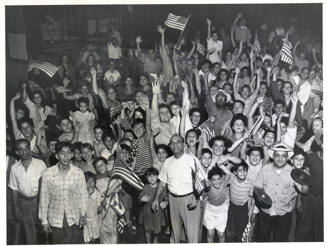 Crowd Celebrating