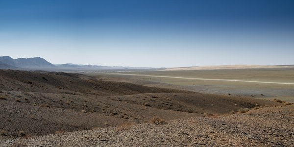 Panorama of the Namibian Desert with road  thumbnail