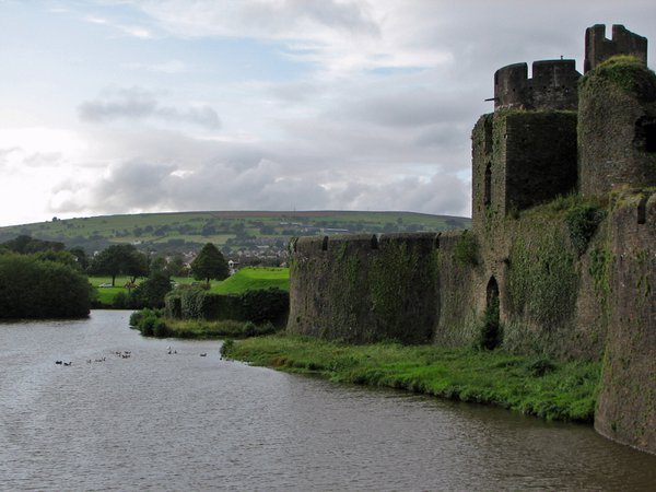 Caerphilly castle in Wales thumbnail