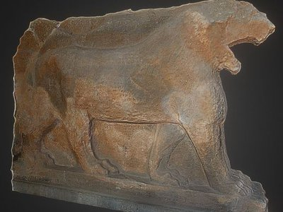 The original 3,000-year-old lion sculpture was destroyed during the razing of Baghdad's Mosul Museum