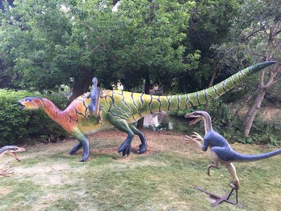 Statues at Ogden's George S. Eccles Dinosaur Park