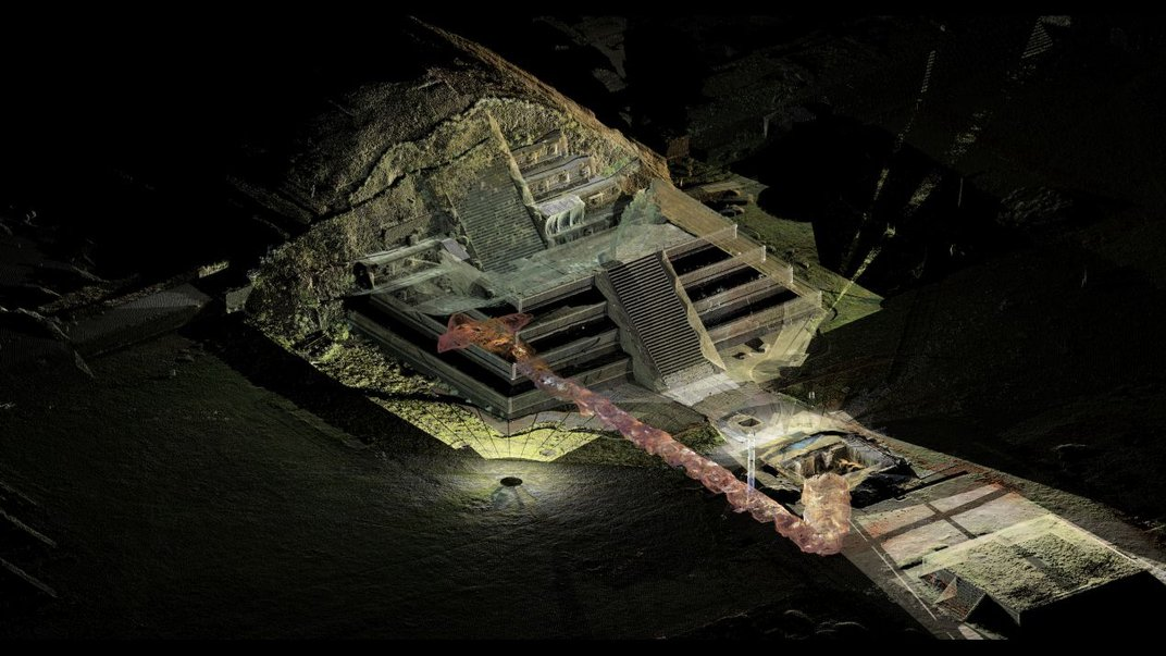 1,800-year-old bouquets of flowers found in tunnel under the pyramid of Teotihuacán