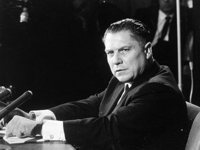 As leader of the powerful Teamsters Union, Hoffa was rumored to have connections with organized crime and served four years in prison for various offenses.