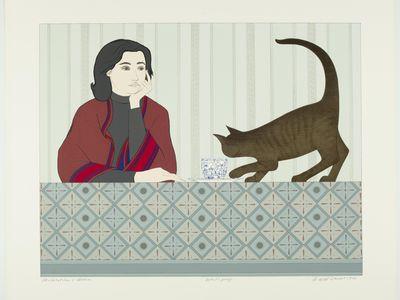 """Meditation and Minou,"" 1980, by Will Barnet."