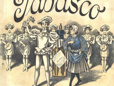 Cover art for sheet music from the original Tabasco opera, 1894.