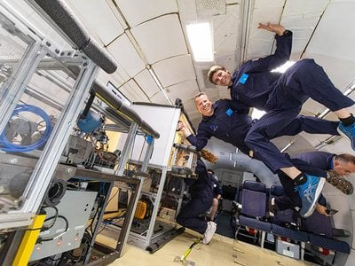 The researchers flew their fridge on parabolic flights to simulate a microgravity environment.