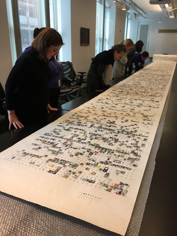 Display of Long Scroll by Loren Madsen